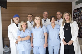 Dr Nikos Kanakas and his medical team